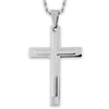 Crucible Men's Stainless Steel Layer Cross Pendant Necklace