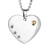 ELYA Gold Heart wtih 3 CZs Heart Stainless Steel Pendant Necklace - 24