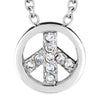 ELYA Cubic Zirconia Peace Stainless Steel Pendant Necklace - 18