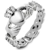 ELYA Women's Celtic Knot Claddagh Stainless Steel Ring