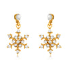 ELYA Women's Crystal Snowflakes Dangle Earrings