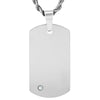 Crucible Tungsten Carbide with Cubic Zirconia Dog Tag Pendant (2 mm) - 24