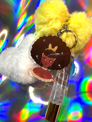 Afro Cutie Lipgloss Keychain