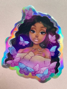 Butterfly Beauty Holographic Stickers