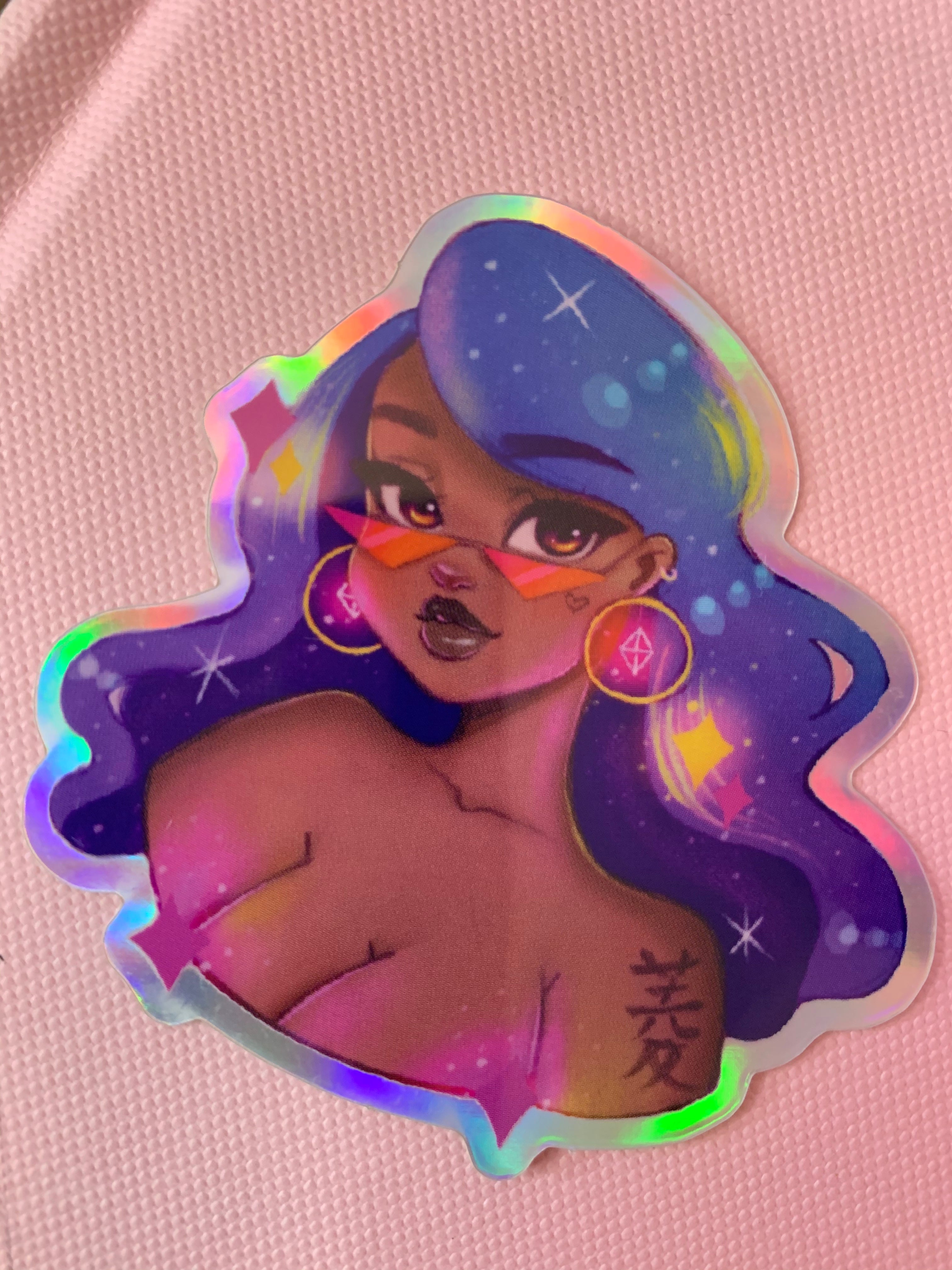 Diamond Babe Holographic Stickers