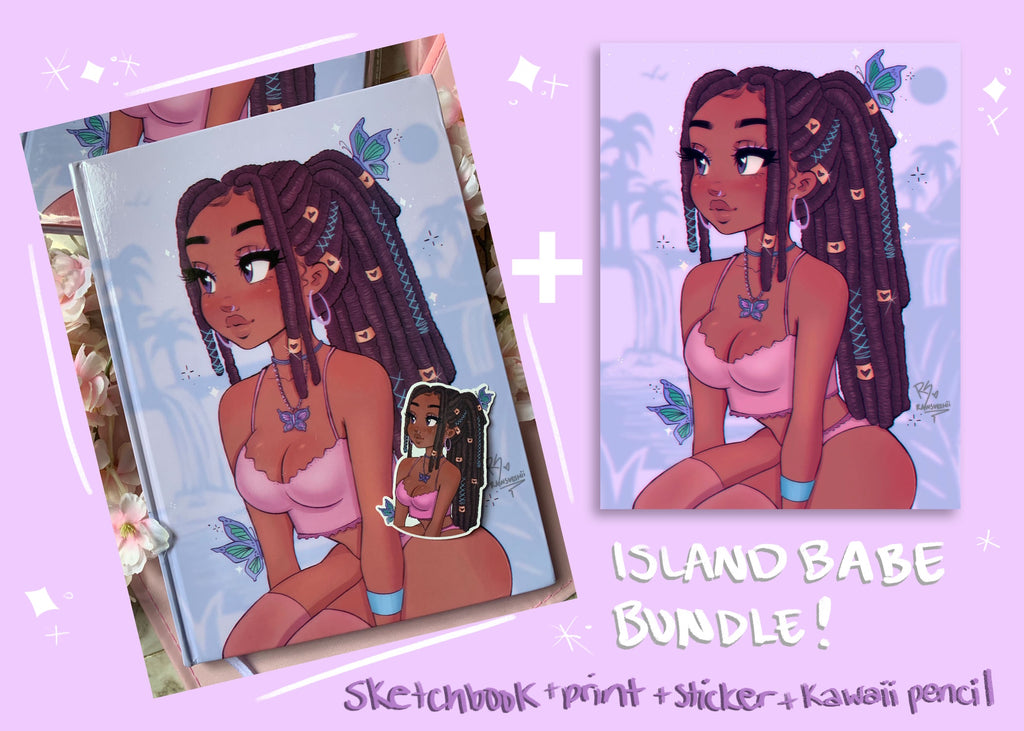 Island Babe Sketchbook Bundle