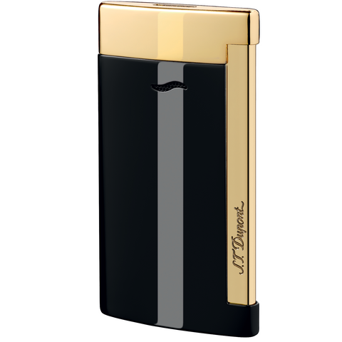 S.T. Dupont Lighter Slim 7 Black & Gold Finishes 27708