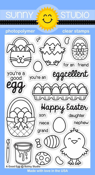Sunny Studios A Good Egg Photopolymer Stamp Set