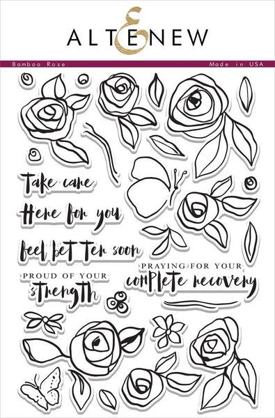Altenew Bamboo Rose Photopolymer Stamp Set