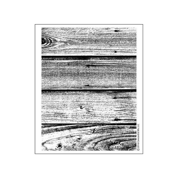 Concord & 9th Barnwood Background Photopolymer Stamp Set