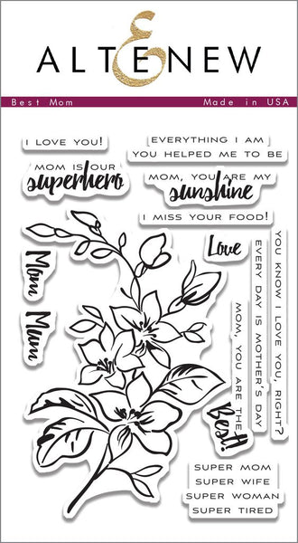 Altenew Best Mom Photopolymer Stamp Set