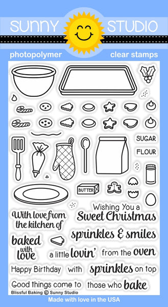 Sunny Studios Blissful Baking Photopolymer Stamp Set