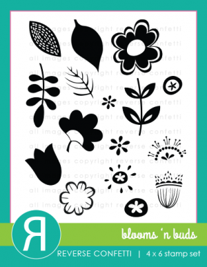 Reverse Confetti Blooms 'n Buds Photopolymer Stamp Set