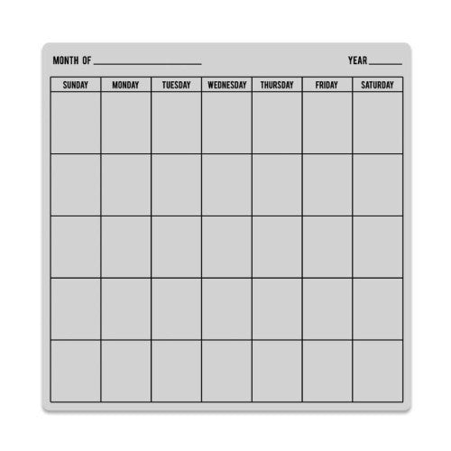 Hero Arts Clings Calendar Bold Prints Background Stamp