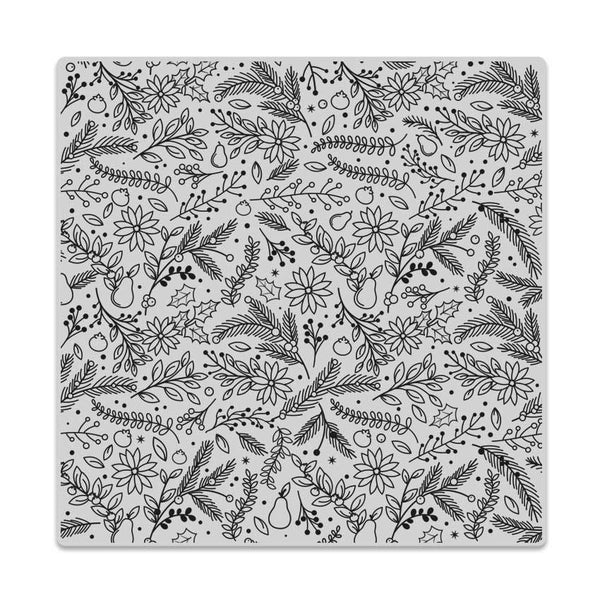 Hero Arts Clings Holiday Florals Bold Prints Background Stamp