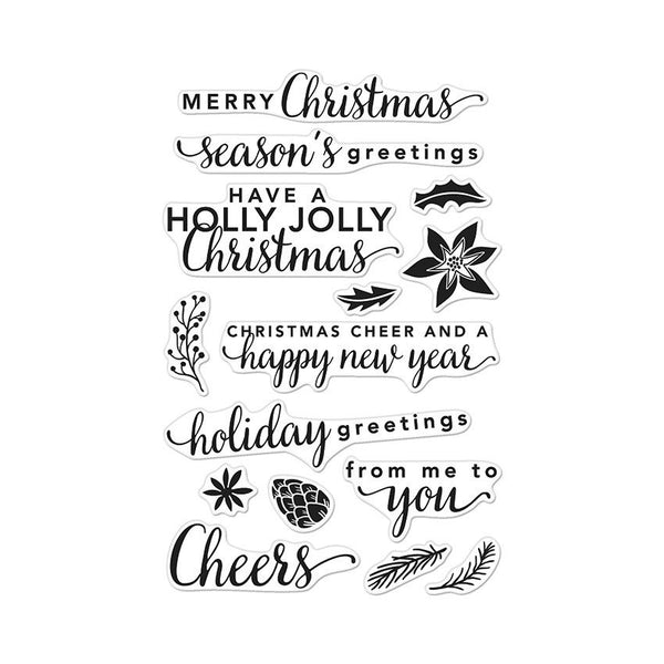 Hero Arts Holiday Greetings Photopolymer Stamp Set