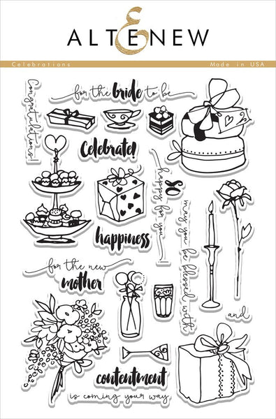 Altenew Celebrations Photopolymer Stamp Set