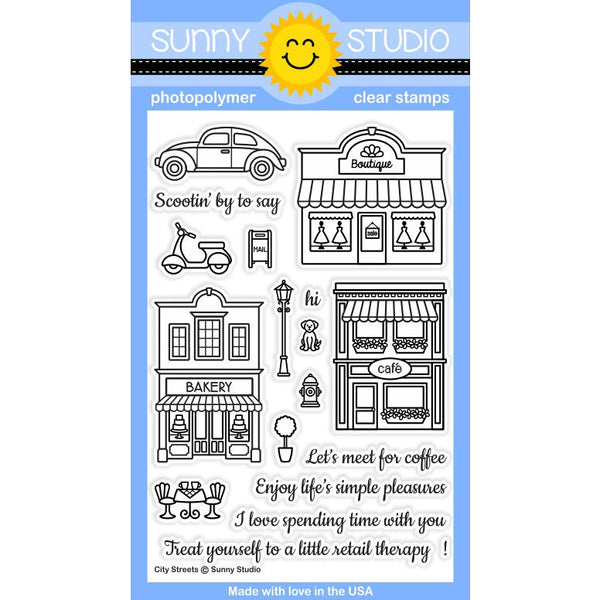 Sunny Studios City Streets Stamps