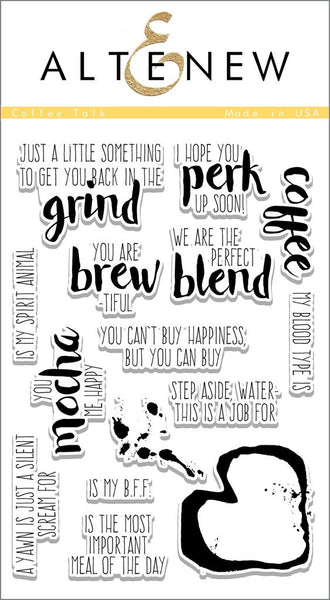 Altenew Coffee Talk Photopolymer Stamp Set