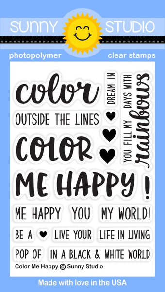 Sunny Studios Color Me Happy Photopolymer Stamp Set