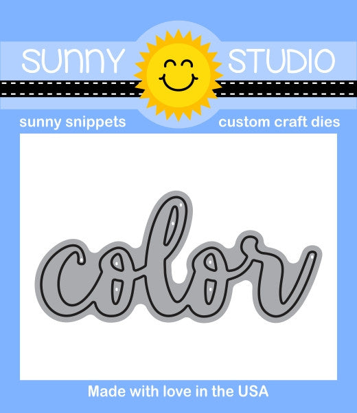 Sunny Studios Color Word Craft Die
