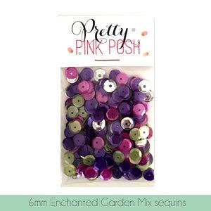 Pretty Pink Posh 6mm Enchanted Gardens Mix Sequins
