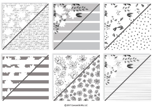 Concord & 9th Floral Fill In Patterned Paper