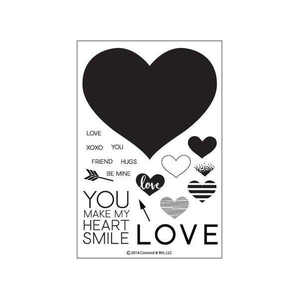 Concord & 9th Heart Smile Photopolymer Stamp Set