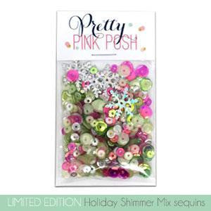 Pretty Pink Posh Holiday Shimmer Sequins Mix