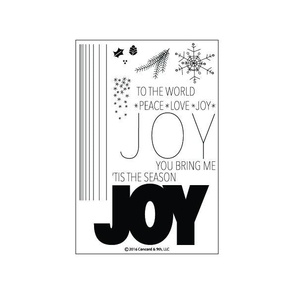 Concord & 9th Joy Photopolymer Stamp Set