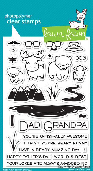 Lawn Fawn Dad + Me Photopolymer Stamp Set