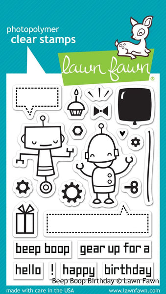 Lawn Fawn Beep Boop Birthday Photopolymer Stamp Set
