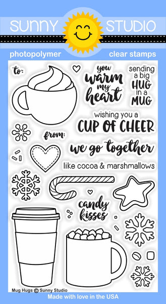 Sunny Studios Mug Hugs Photopolymer Stamp Set