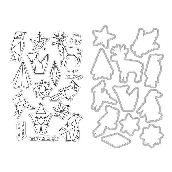 Hero Arts Stamp & Die Set Origami Holiday