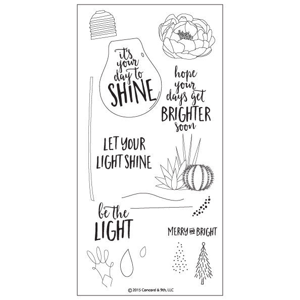 Concord & 9th Shine Brighter Photopolymer Stamp Set
