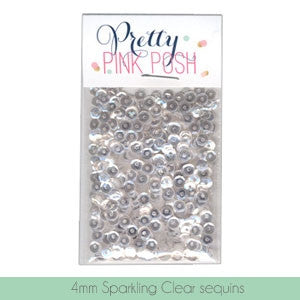 Pretty Pink Posh Sparkling Clear 4mm