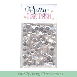 Pretty Pink Posh Sparkling Clear 6mm