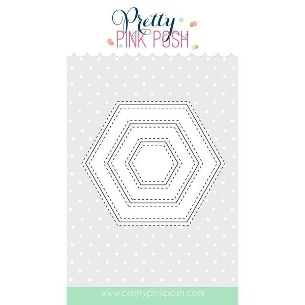 Pretty Pink Posh Stitched Hexagons Dies
