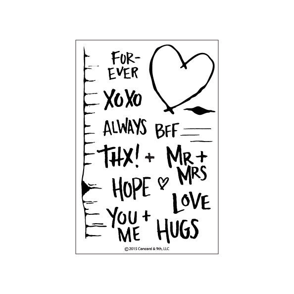 Concord & 9th Tree Hugs Photopolymer Stamp Set