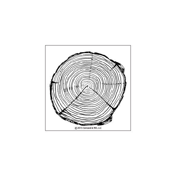 Concord & 9th Tree Ring Stamp Set Photopolymer Stamp Set
