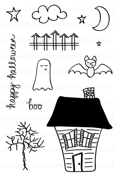Neat & Tangled Halloween Scene Photopolymer Stamp Set