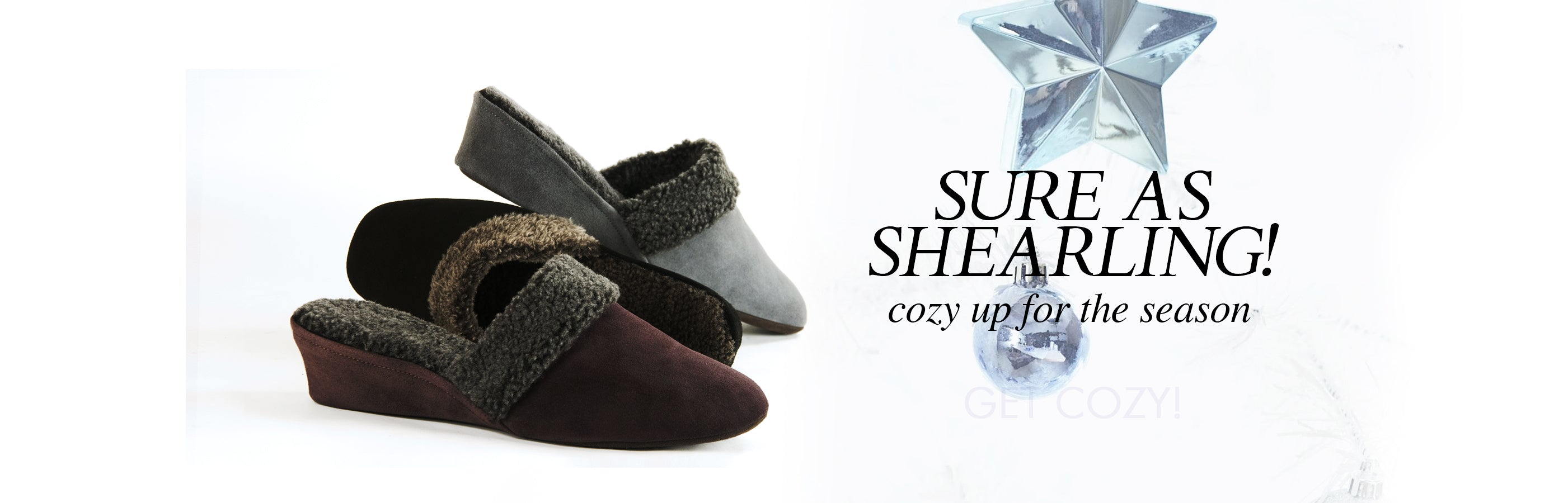 Jacques Levine #9854 Shearling Slippers