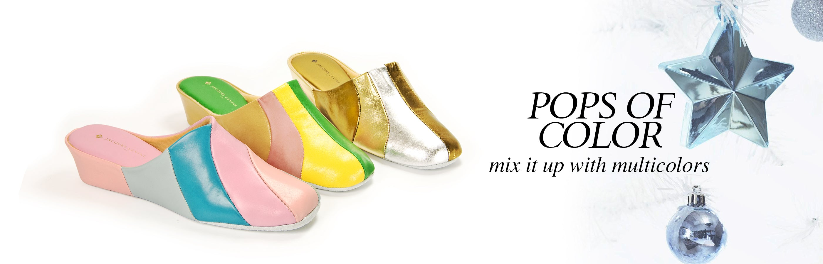 Jacques Levine Multicolor Slippers