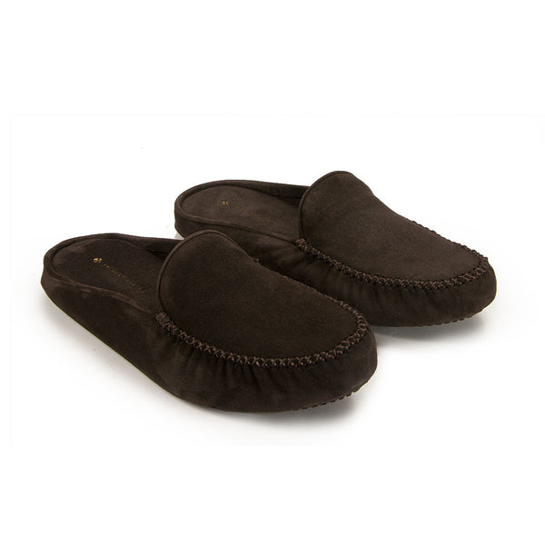 Jacques Levine - #12511F - Mens Slipper in Brown