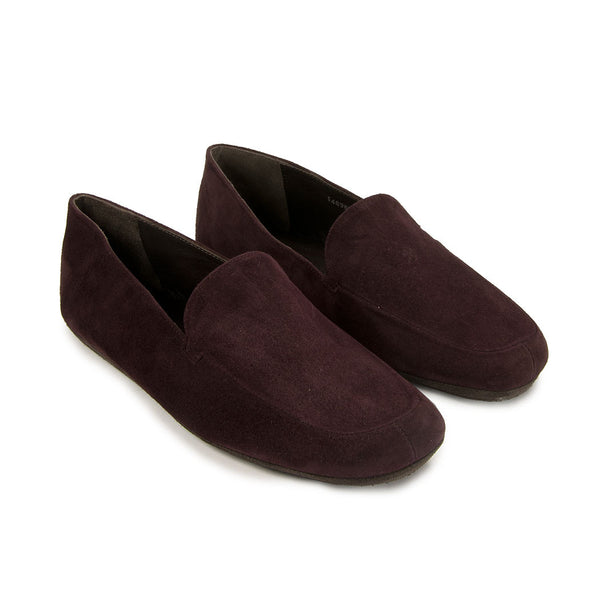 Jacques Levine - #14895 - Mens Suede Slipper in Bordeaux