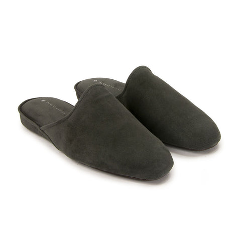Jacques Levine - #18017 - Mens Slippers in Carbon