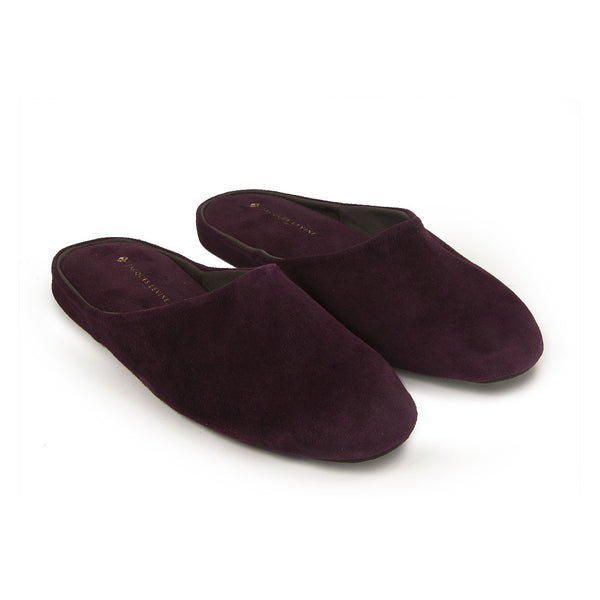 Jacques Levine - HOM 05 - Mens Travel Slippers in Bordeaux