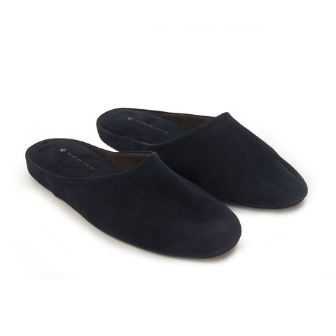 Jacques Levine - HOM 05 - Mens Travel Slippers in Empire Navy