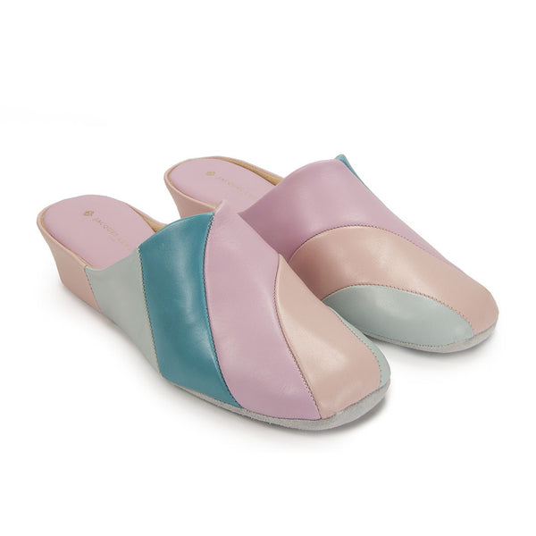 Jacques Levine #1340 Pink Slippers