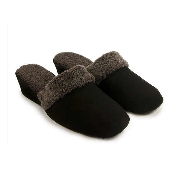 Jacques Levine #9854 Slippers in Black